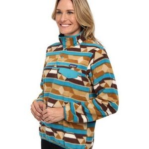 Patagonia Synchilla Snap Pullover w/ Tribal Print